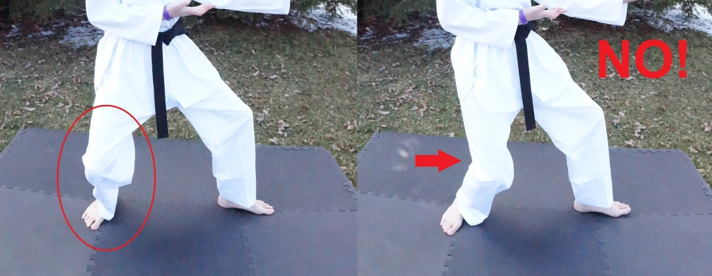 back stance knee injuries
