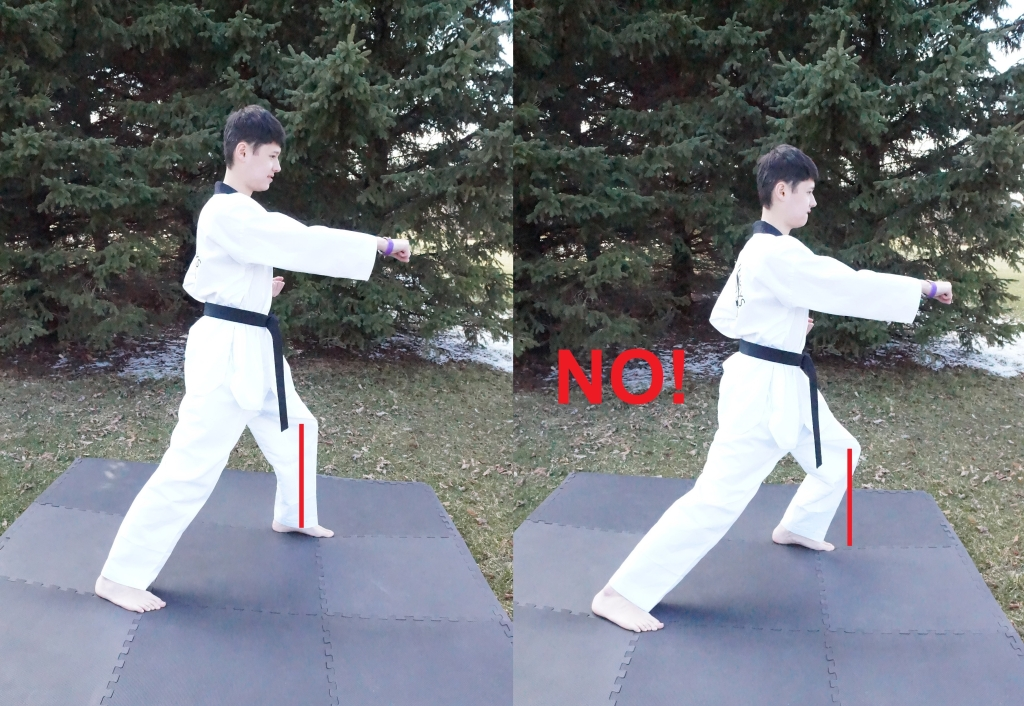 front stance knee injuries