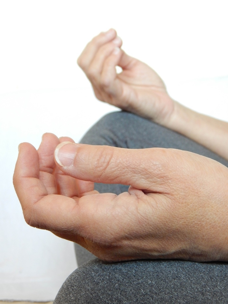 relaxing meditation hands
